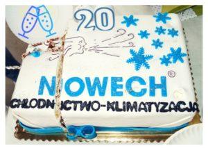 Nowech Chłodnictwo iKlimatyzacja: Tort zokazji 20-lecia firmy Nowech.