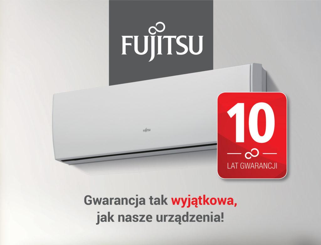 10 lat gwarancji klimatyzacja FUJITSU wNOWECH