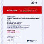 NOWECH - certyfikat